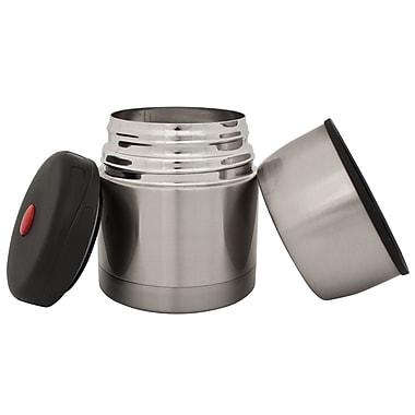 Geo Stainless Steel Vacuum Flasks, 470mL, Silver, 2/Pack