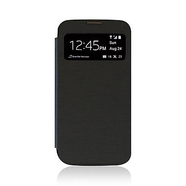 LBT Samsung S4 Flip Case with Viewing Windows, Black