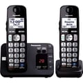 Panasonic® KX-TGE232B DECT 6.0 Duo Cordless Phone, Black