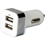 QVS® 2-Port USB Car Charger for Smartphones and Tablets