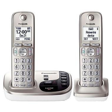 Panasonic KX-TGD222N Single Line Cordless Office Telephone, Champagne Gold