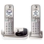 Panasonic KX-TGD222N Single Line Cordless Office Telephone, Champagne Gold