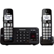Panasonic® KX-TGE242B DECT 6.0 Big Button Duo Cordless Phone, Black