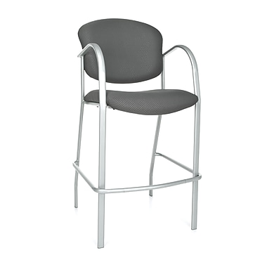 OFM™ Danbelle Series Fabric Cafe Height Chair With Arms, Graphite