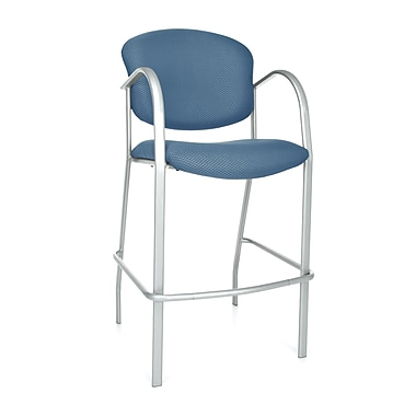 OFM Danbelle 46'' Casual Legged Base Fabric Bar Stool, Ocean Blue (845123051726)
