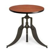 "OFM™ Endure Series 30"" Round Laminate Adjustable Height Table With Dark-Vein Base, Cherry"