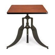 """OFM™ Endure Series 30"""" Square Laminate Adjustable Height Table With Dark-Vein Base, Cherry"""