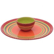 Certified International Hot Tamale Chip and Dip Tray