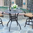 Meadow Decor Bar Table; Black