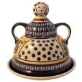 Polish Pottery Cheese Lady Covered Cheese Dish
