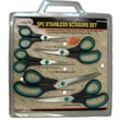 EuropaTex 5PC Stainless Scissors Set