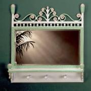 Yesteryear Victorian Coat Rack Mirror; Green / Pink
