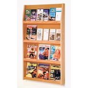 Wooden Mallet 12 Magazine / 24 Brochure Wall Display; Light Oak