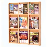 Wooden Mallet 9 Magazine / 18 Brochure Wall Display; Light Oak