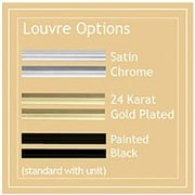 Napoleon Deluxe Louvres and Acrylic Trim for Pedestal Model Stoves; Satin Chrome Plated