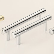 Omnia Classic & Modern 4'' Center Bar Pull; Polished Chrome Plated