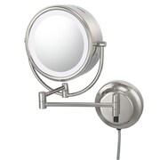 Kimball & Young Kimball & Young NeoModern LED Lighted Plug-in Wall Mirror; Polished Nickel