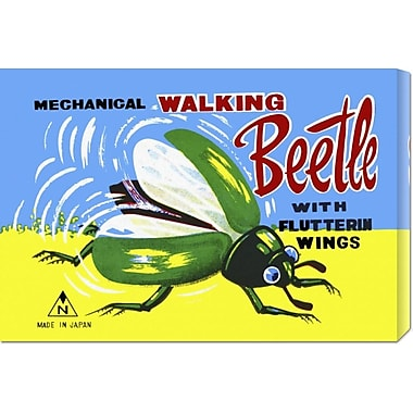 Global Gallery 'Mechanical Walking Beetle' by Retrobot Vintage Advertisement on Wrapped Canvas