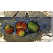 Global Gallery 'Four Apples' by Paul Cezanne Painting Print on Wrapped Canvas