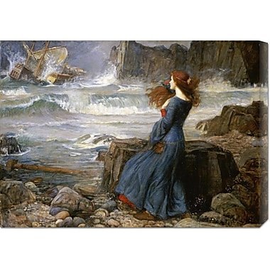 Global Gallery 'Miranda - The Tempest' by John William Waterhouse Painting Print on Wrapped Canvas