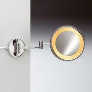 Windisch by Nameeks Wall Mounted Magnifying Mirror; Gold