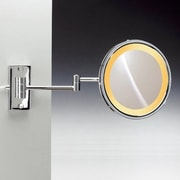 Windisch by Nameeks Wall Mounted Magnifying Mirror; Satin Nickel