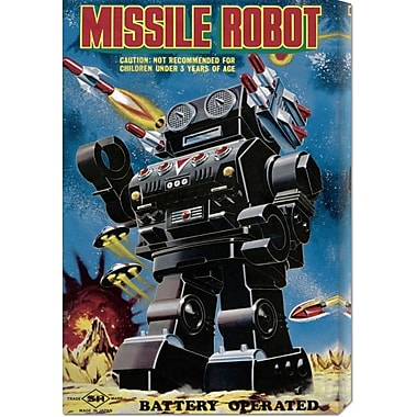 Global Gallery 'Missile Robot' by Retrobot Vintage Advertisement on Wrapped Canvas