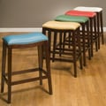Ultimate Accents Southwest Backless 24'' Bar Stool with Cusion; Turquoise Blue