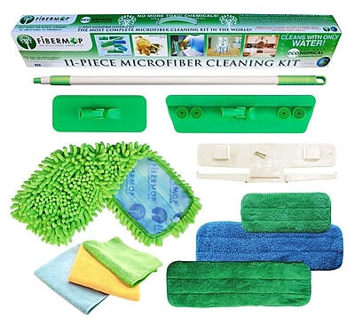 DSD Group Fibermop 11 Piece Microfiber Mop Cleaning Kit WYF078276672571