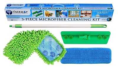 DSD Group Fibermop 4 Piece Microfiber Mop Cleaning Kit WYF078276672614