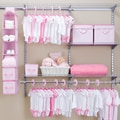 Delta Children Nursery Closet Storage Set; Pink