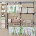 Delta Children Nursery Closet Storage Set; Beige