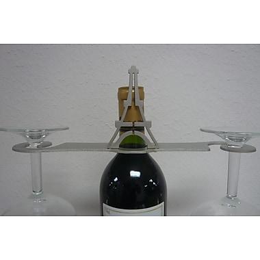 Metrotex Designs Laser Cut Eiffel Tower 2-Stem Bottle Topper; Nickel
