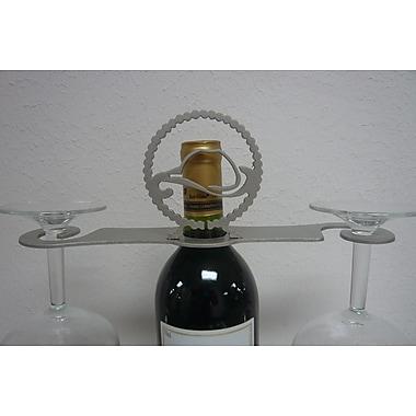 Metrotex Designs Laser Cut Cowboy Hat/Lasso 2-Stem Bottle Topper; Nickel