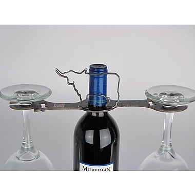 Metrotex Designs Laser Cut Longhorn 2-Stem Bottle Topper; Natural Steel Lacquered