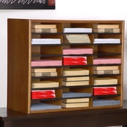 Concepts in Wood Compartment Literature Organizer; Dry Oak
