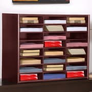 Concepts in Wood Compartment Literature Organizer; Cherry