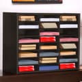 Concepts in Wood Compartment Literature Organizer; Espresso