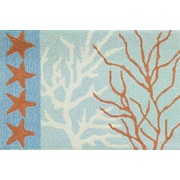Homefires Coral and Stars Rug