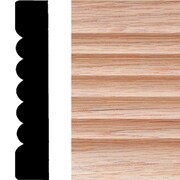 Manor House 3/4 in. x 4 in. x 7 ft. Oak Ribbed Fluted Casing Moulding