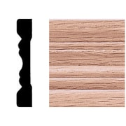 Manor House 3/8 in. x 2-1/4 in. x 7 ft. Oak Fluted Casing Moulding