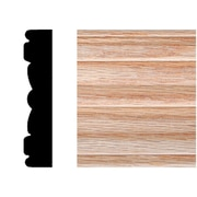 Manor House 5/8 in. x 3 in. x 7 ft. Oak Victorian Fluted Casing Moulding