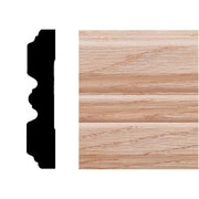 Manor House 3/4 in. x 3-1/4 in. x 7 ft. Oak Fluted Casing Moulding