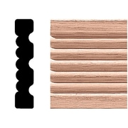 Manor House 3/4 in. x 3-1/4 in. x 7 ft. Oak Reversible Flute Casing Moulding