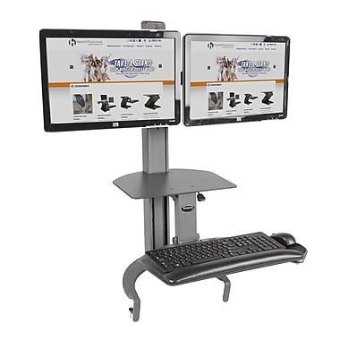 Health Postures TaskMate Go Dual Monitor Desk