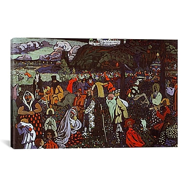 iCanvas 'Colorful Life' by Wassily Kandinsky Painting Print on Canvas; 26'' H x 40'' W x 1.5'' D