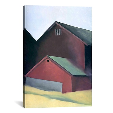 iCanvas 'Ends of Barns' by Georgia O'Keeffe Painting Print on Canvas; 18'' H x 12'' W x 0.75'' D