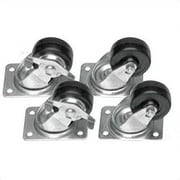 Raxxess CASTER/CM - set of four 4'' casters; Set of four locking commercial casters