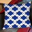 Thumbprintz Modern Geometric Sapphire Printed Polyester Throw Pillow; 16'' H x 16'' W x 4'' D
