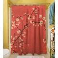 Thumbprintz Golden Cherry Blossom Shower Curtain